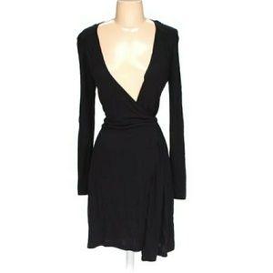 OLD NAVY~ BLACK WRAP AROUND DRESS SIZE XS